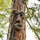 Face Finger Ornament Resin Statue Garden Wall Tree Home Creative Decor