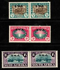 1939 South West Africa Sc #B9-B11 Huguenots Semi-Postals Mint LH; SCV $69.00