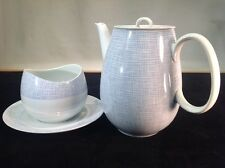 """Vintage Porcelain Teapot & Matching Sugar Bowl By Thomas Of Germany 7.5"""" Tall"""