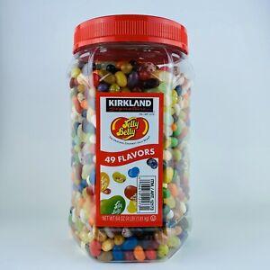 1 Jar Huge Kirkland Signature Jelly Belly Jelly Beans 49 Flavors 4 lb/64 oz NEW