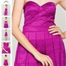 "BNWT ""  Lipsy "" Size 10 Purple Bandeau Prom Pleated Dress Weddings Party RRP£75"