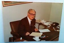 Vintage PHOTO Politician Lawyer At Desk Lighters, Cigarettes & Rotary Telephone