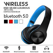 Wireless bluetooth Headphone Foldable Stereo Headset Super Bass Earphones Mic TF