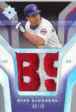 2004 Ultimate Collection RYNE SANDBERG Cubs LOGO Super Patch #d 20