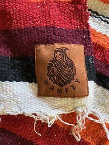 WRMFZY Vaquero Blanket, Black/White/Orange/Red