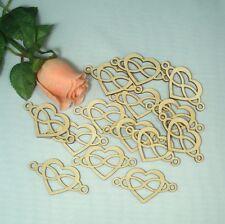 Hochzeitsdeko 10 Herzen 5 cm Herz mit unendlich Zeichen Hochzeit Streudeko Holz