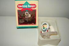 Vintage Hallmark Polar Pals Stocking Hanger Ice Fishing Frosty Friends Eskimo