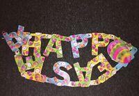 """Vintage Die Cut Happy Easter Jointed Steamer Banner 52.5"""" Long"""