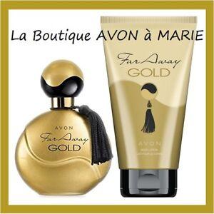 Far away Gold Set Eau Perfume + Cream Body Of Chez avon
