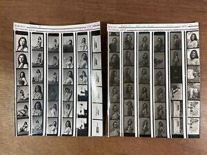 Vintage Photograph Film Contact Prints of Glamour Beautiful Ladies etc (2)