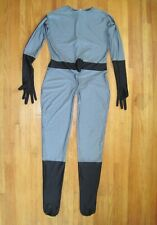 Plus Size Shiny Spandex Zentai Superhero Suit W/Crotch Zipper Catsuit Size XXL