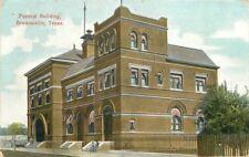 1910 Brownsville Texas Federal Building Grombach Faisans roadside postcard 2794