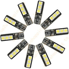 10 x T10 W5W 6 SMD 5050 Canbus Error Free Car LED SMD Light Interior Bulb White