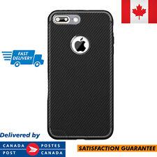 Apple iPhone 7 Case Carbon Fiber TPU Material Matte Finish Armor Defender Black