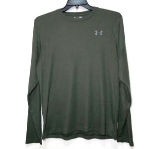 UNDER ARMOUR COLD GEAR ATHLETIC LONG SLEEVE THERMAL TEE T SHIRT Sz Mens L Green