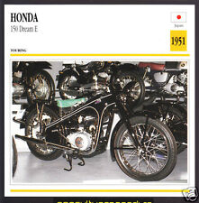 1951 Honda 150cc Dream E (146cc) Japan Bike Motorcycle Photo Spec Info Stat Card