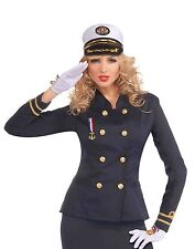 LADY IN THE NAVY OFFICER'S JACKET NAVY BLUE ADULT HALLOWEEN COSTUME ACCESSORY
