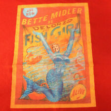 Bette Midler Dolores The Fish Girl Live On Tour Concert T-Shirt XXL 100% Cotton