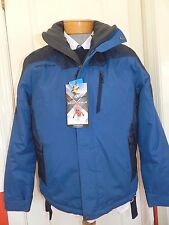 MENS BLUE winter hooded COAT JACKET = zeroXposur = SIZE MEDIUM = new = ss25