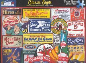 Lois B.Sutton 500 Pc White Mountain Jigsaw Puzzle Classic Signs NIB