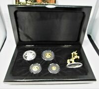 1994 China Unicorn Gold & Silver 4 Yuan Proof Coin Collection Boxed AC652
