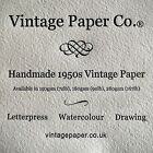 Handmade vintage 1950/60s watercolour, drawing & printmaking paper. Top quality