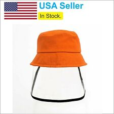 Back to School - Kids Protective Face Shield Hat with Clear Shield - Orange