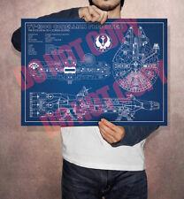 Star Wars -  Millennium Falcon Schematic Poster A3 Size