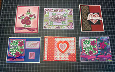 Lot of 6 Stampin Up / Other Handmade Valentine Spring Easter Greeting Cards