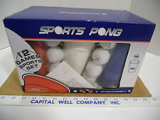 Sportscraft Sports Beer Pong 12 Game Sports Set, 30 Cups & 18 Balls - NEW