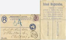 GB QV REGISTERED CHARING CROSS to CHELSEA SENT + DELIVERED CHRISTMAS EVE 1897