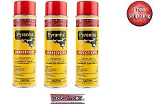 (3) pack Pyranha Insecticide Pyrethrin Aerosol Premise Horse Flies Spray 15 oz