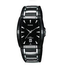 Pulsar Men's Dress Sport Black Lon Silver Tone Watch PG8115