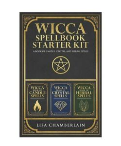 Wicca Spellbook Starter Kit: A Book of Candle, Crystal, and Herbal Spells, New