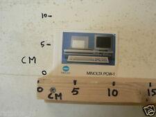 STICKER,DECAL MINOLTA PCW-1 COMPUTER ?