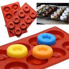 8 Cavity Silicone Donut Maker Doughnut Chocolate Pan Cake Soap DIY Baking Mold