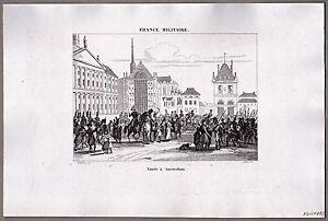 Napoleon, Napoleonische Kriege - Einzug in Amsterdam - Kupferstich 1835