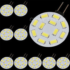 10 x G4 Reading RV Light 1.2W 420-Lumen 12 SMD 5630 LED White Bulb Lamp 12V AC