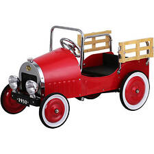 retro pickup truck pedal car red
