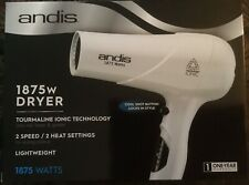 andis HAIR DRYER  Styling 1875W LCS-1  80700 White IONIC 2 Speed 2 Heating Sets