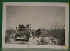 VINTAGE 1947 MARITIME CORDOVA ALASKA LOGGING TIMBER BULL DOZER EQUIPMENT PHOTO