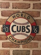 Man Cave Chicago Cubs World Series Handmade Sign Game Used Office Kris Bryant