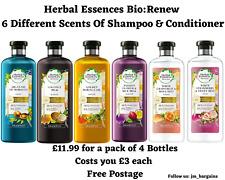 Herbal Essences Bio:Renew - Shampoo (400ml) & Conditioner (360ml) - Bundle Of 4