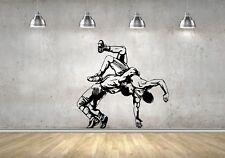 Wall Sticker Mural Decal Vinyl Decor Wrestling  Wrestler Jiu Jitsu Sport