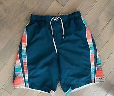 Mens Adidas Athletic Green Orange Shorts Medium M Mesh Lining