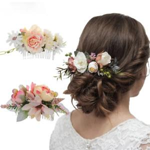 Boho Bridal Hair Combs Floral Wedding Flower Hair Clips Women Hair Accessories