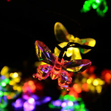 Solar Powered Butterfly LED String Lights Sensor Outdoor Garden Lamp Decor USAA