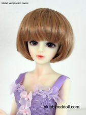 "1/4 bjd msd 7-8"" doll head copper red short wig Luts Iplehouse minifee W-Jd256M"