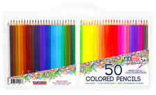 US Art Supplies Rainbow Prisma Multi Color Pencil Set 50pc Drawing Color Pencils
