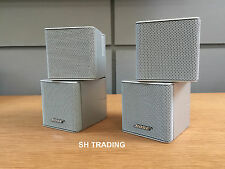2 X BOSE SILVER JEWEL DOUBLE CUBE LIFESTYLE ACCOUSTIMASS SPEAKERS 5 10 28 38 48